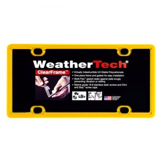 WeatherTech® - ClearFrame License Plate Frame, Golden Yellow