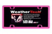 WeatherTech® - ClearFrame License Plate Frame, Hot Pink