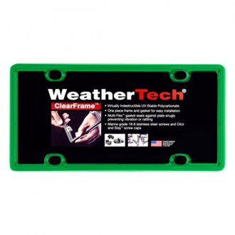 WeatherTech® - ClearFrame License Plate Frame, Kelly Green