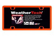 WeatherTech® - ClearFrame License Plate Frame, Orange