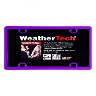 WeatherTech® - ClearFrame License Plate Frame, Purple