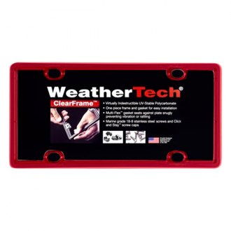 WeatherTech® - ClearFrame License Plate Frame, Red