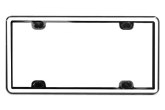 WeatherTech® 63021 - ClearFrame™ License Plate Frame Kit (White / Black)