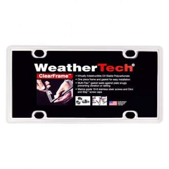 WeatherTech® - ClearFrame License Plate Frame, White