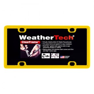 WeatherTech® - ClearFrame License Plate Frame, Yellow