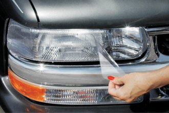 Image may not reflect your exact vehicle! WeatherTech® - LampGard Headlight Protecting Covers on Chevy Suburban