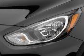Image may not reflect your exact vehicle! WeatherTech® - LampGard Headlight Protecting Covers on Hyundai Accent