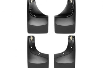 WeatherTech® 110002-120002 - Black Front and Rear DigitalFit™ No-Drill Mud Flaps