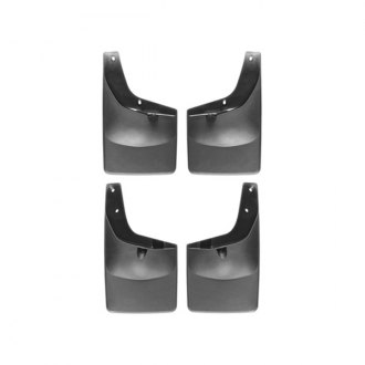 WeatherTech® - DigitalFit Front and Rear Black No-Drill Mud Flaps