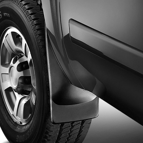 Image may not reflect your exact vehicle! WeatherTech® - DigitalFit™ Black No-Drill Mud Flaps