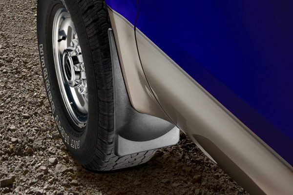 Image may not reflect your exact vehicle! WeatherTech® - DigitalFit™ No-Drill Mud Flaps - Front