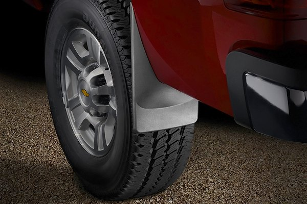 Image may not reflect your exact vehicle! WeatherTech® - DigitalFit™ No-Drill Mud Flaps - Rear