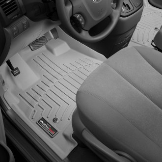 WeatherTech® - DigitalFit™ 1st Row (Over the Hump) Gray Molded Floor Liner