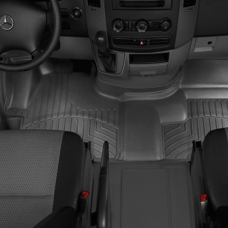 WeatherTech® - DigitalFit™ 1st Row (Over the Hump) Black Molded Floor Liner