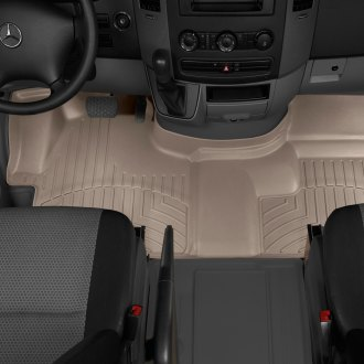 WeatherTech® - DigitalFit™ 1st Row (Over the Hump) Tan Molded Floor Liner