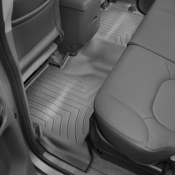 Black 1st /& 2nd Row WeatherTech Custom Fit FloorLiner for Nissan Frontier