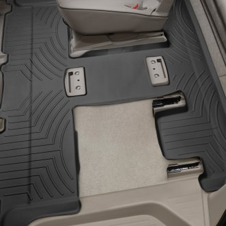 WeatherTech® - DigitalFit™ 2nd & 3rd Row Black Molded Floor Liner