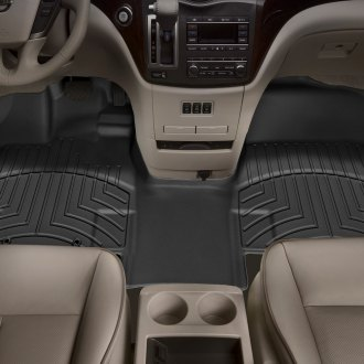 WeatherTech® - DigitalFit™ 1st Row, Over the Hump Black Molded Floor Liner