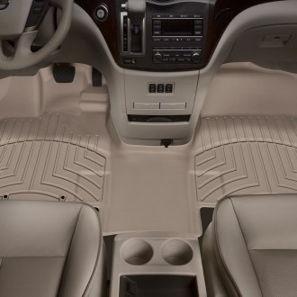 WeatherTech® - DigitalFit™ 1st Row, Over the Hump Tan Molded Floor Liner