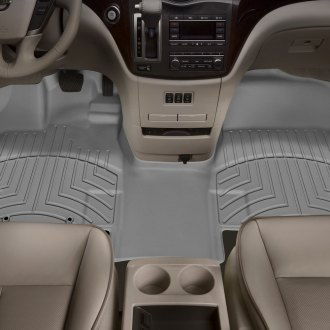 WeatherTech® - DigitalFit™ 1st Row, Over the Hump Gray Molded Floor Liner