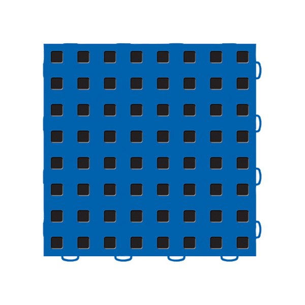 "WeatherTech® - TechFloor™ (12"" x 12"" Blue / Black Square Floor Tile)"