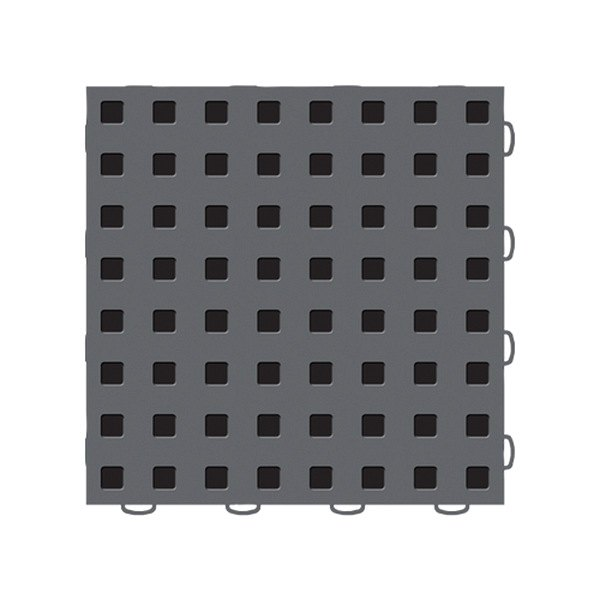 "WeatherTech® - TechFloor™ (12"" x 12"" Dark Gray / Black Square Floor Tile)"
