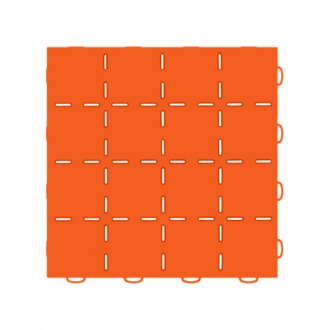 WeatherTech® - TechFloor™ 12 x 12 Orange Smooth Surface Flow-Thru Floor Tile