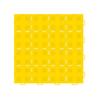 WeatherTech® - TechFloor™ 12 x 12 Yellow Solid Flow-Thru Floor Tile With Raised Squares