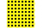 "WeatherTech® - TechFloor™ (12"" x 12"" Yellow / Black Square Floor Tile)"