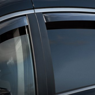 WeatherTech® - Window Deflectors - Rear, Light Smoke