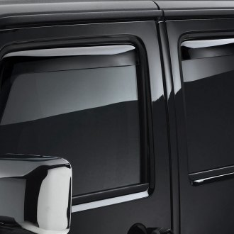 WeatherTech® - Window Deflectors - Front and Rear, Dark Smoke