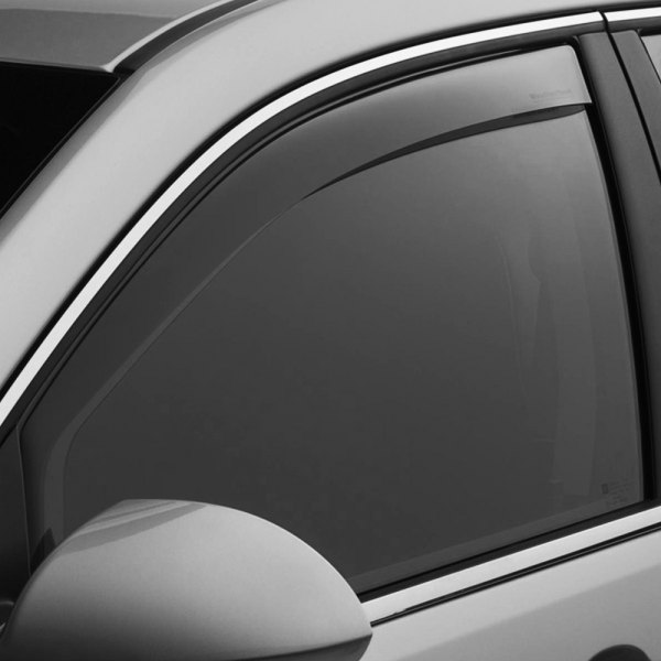 Image may not reflect your exact vehicle! WeatherTech® - In-Channel Dark Smoke Front Window Deflectors