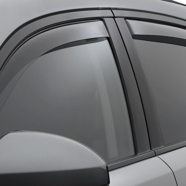 Image may not reflect your exact vehicle! WeatherTech® - In-Channel Dark Smoke Front and Rear Window Deflectors