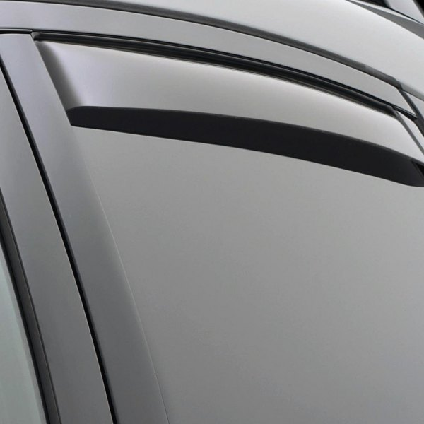 Image may not reflect your exact vehicle! WeatherTech® - In-Channel Dark Smoke Rear Window Deflectors