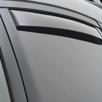 Image may not reflect your exact vehicle! WeatherTech® - Dark Smoke Rear Window Deflectors
