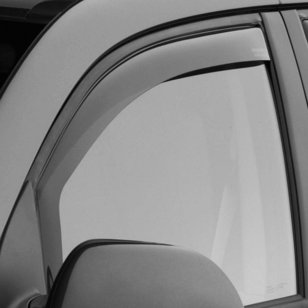 Image may not reflect your exact vehicle! WeatherTech® - In-Channel Light Smoke Front Window Deflectors