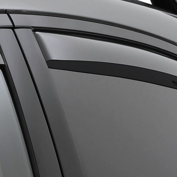 Image may not reflect your exact vehicle! WeatherTech® - In-Channel Light Smoke Rear Window Deflectors
