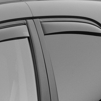 Image may not reflect your exact vehicle! WeatherTech® - Light Smoke Rear Window Deflectors