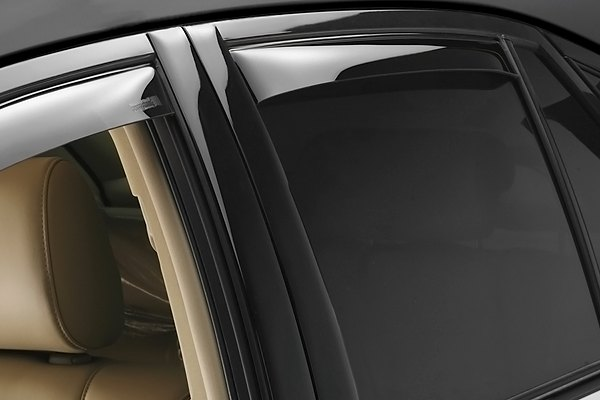 Image may not reflect your exact vehicle! WeatherTech� Side Wind Deflectors - Rear, Dark Smoke