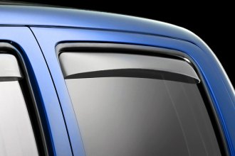 Image may not reflect your exact vehicle! WeatherTech® - Window Deflectors - Rear, Light Smoke