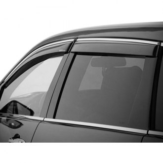 WELLvisors® - Tape-On Smoke Front and Rear Side Window Deflectors