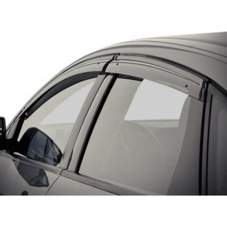 WELLvisors® - Tape-On Smoke Front and Rear Side Window Deflectors with Black Trim