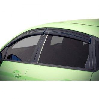 For 11-UP Ford Fiesta Hatchback WellVisors Side Window Visors W// Black Trim