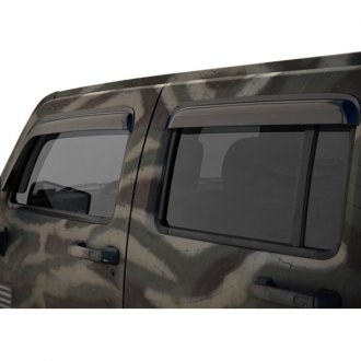 WELLvisors® - Tape-On Premium Series Smoke Front and Rear Side Window Deflectors
