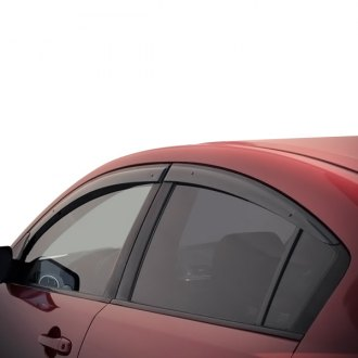 WellVisors Side Window Visors For 19-Up Toyota RAV4 Deflector Guards Chrome Trim