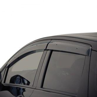 Dark Smoke WeatherTech Custom Fit Rear Side Window Deflectors for Toyota Prius