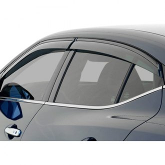 WELLvisors® - Tape-On Smoke Side Window Deflectors with Trim