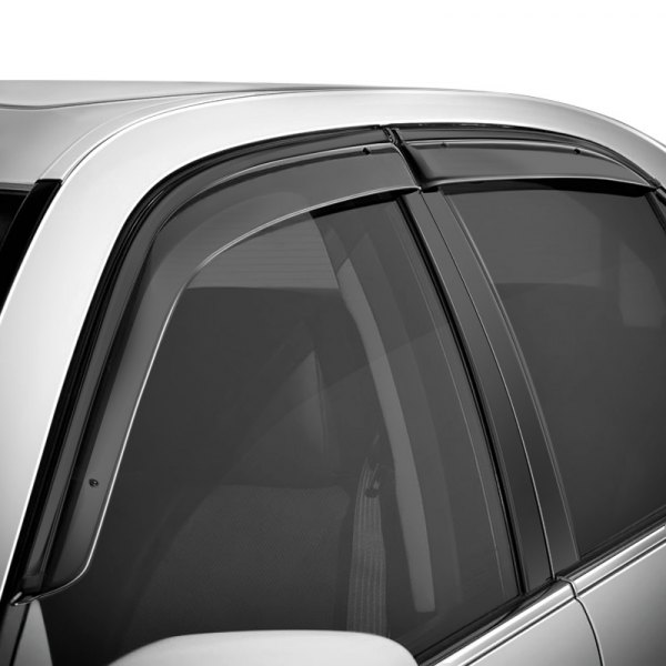 WELLvisors® - Smoke Side Window Deflectors with Black Trim