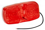 Wesbar® - Red Side Marker/Clearance Light with Dual Bulbs
