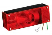 "Wesbar® - Over 80"" 8-Function Low Profile Tail Light with Stripped Leads"